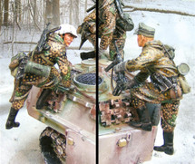 German Jagdpanther Climbers Winter Camouflage, The Ardennes Offensive (Dec. 1944 - Jan. 1945)