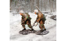 German Bulge Advancers, 2 Figures