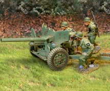 US 2nd ID 57mm Anti-Tank Gun 3 Figs & Ammo Shells, Box