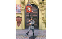 Waffen SS Review Marching Flagbearer WWII, single figure