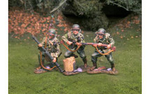 US 2nd Infantry Division Riders WWII, three figures