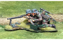 Waffen SS MG42 Team, two figures on one base