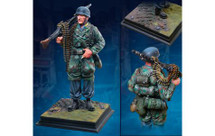 Fallschirmjager At Carentan, single 1/6th Statue Hand-Painted Limited Edition (acrylic case not included)