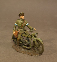 Royal Engineers Signal Service (RESS), Despatch Rider on Motorbike, (1pc)