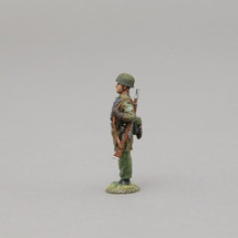 German Fallschirmjager Sentry with Net Covered Helmet