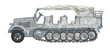 Sd.Kfz.7 8-Ton Half Track - Winter Scheme