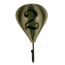 Balloon Hook #2 (Green and White) Authentic Models