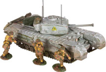 Churchill MK.VII Tank 3 British Paratroopers Figures