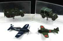 Collectors Set of Four Corsair, Zero, Half Track & Jeep Corgi