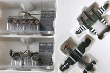Collectors Set of Four P-38, P-51, M4 & Jeep Corgi