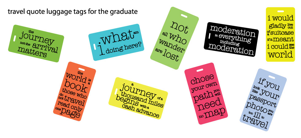travel quote luggage tags
