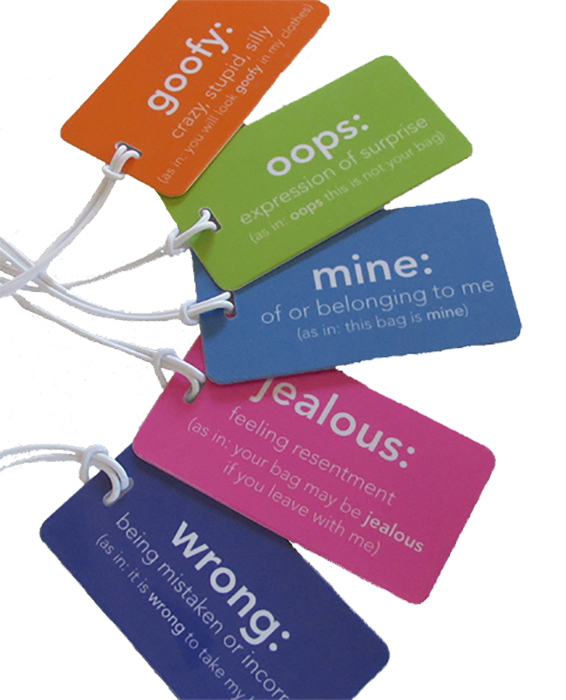 Definitions cute luggage tags