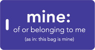 mine luggage tag - Inventive Travelware - Purple