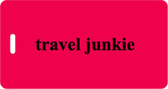 Travel Junkie Luggage Tag - Red