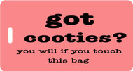 Got Cooties Bag Tag - Coral