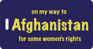Luggage Tag- On My Way to Afganistan for some women's rights