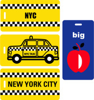 4pc New York Theme Luggage Tag Set