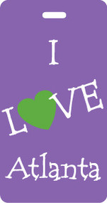 IL-100-GP - I Love Atlanta Luggage Tag - Grape