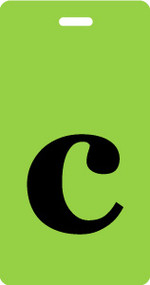 "Luggage Tag - Lower Case ""c"" Lime/Black - Inventive Travelware"