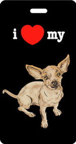 I ♥ My Chihuahua Luggage Tag