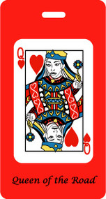 Queen of the Road playing card luggage tag