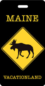 Maine Moose Luggage Tag