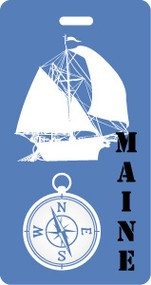 Maine Nautical Luggage Tag