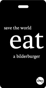 Luggage Tag - Save the World Eat a Bilderburger