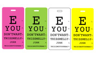 Luggage tag eye charts - 4 pc set