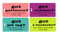 Got Luggage  4pc Luggage Tag