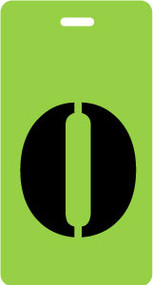 "Luggage Tag - Upper Case ""O"" - Lime/Black - Inventive Travelware"