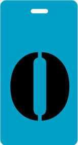 "Luggage Tag - Upper Case ""O"" - Turquoise/Black - Inventive Travelware"