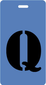 "Luggage Tag - Upper Case ""Q"" - Blue/Black - Inventive Travelware"