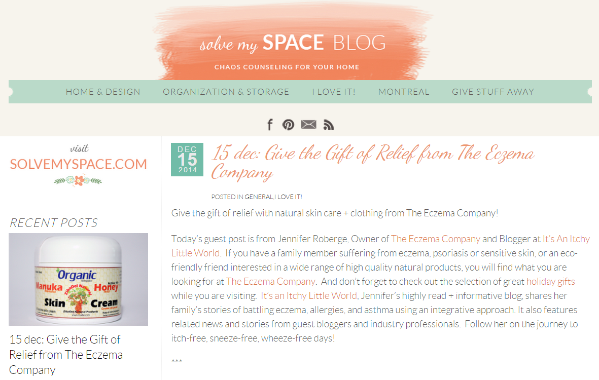 The Eczema Company featured on Solve My Space