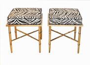 Pair Zebra Benches