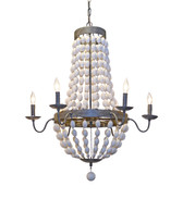 Iron & Wood Bead Chandelier