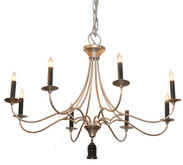 Bexley Chandelier / Silver Leaf Finish