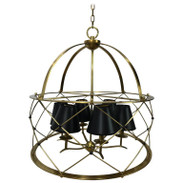 French Modern Royère Style Drum Chandelier