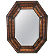 Octagonal Eglomise Mirror