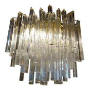 Large Mid Century Camer Chandelier
