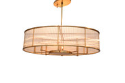 Hera Oval Chandelier/Glass Rods