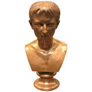 Grand Tour Portrait Bust of Bust of Caesar Augustus, Benedetto Boschetti, Roma