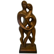 Midcentury Abstract Bronze-Clad Maquette
