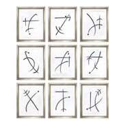 "Trowbridge ""Chirographic Abstracts"" by Charlotte Morgan - Set of 9"
