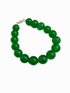 Stunning simple jade bead bracelet