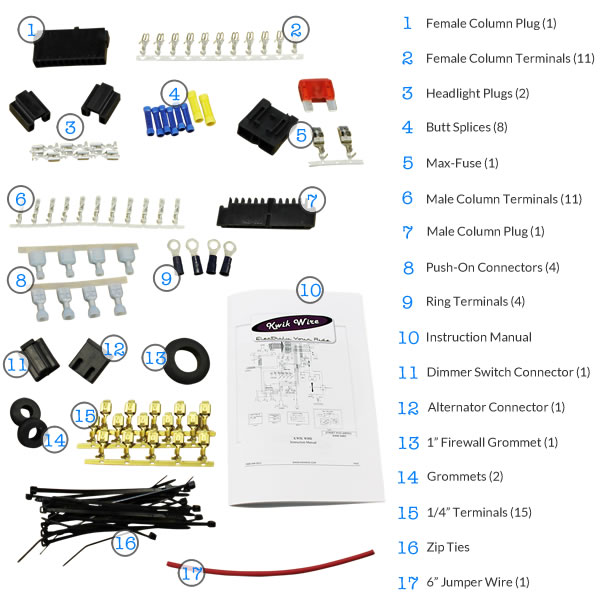Wiring Components Included