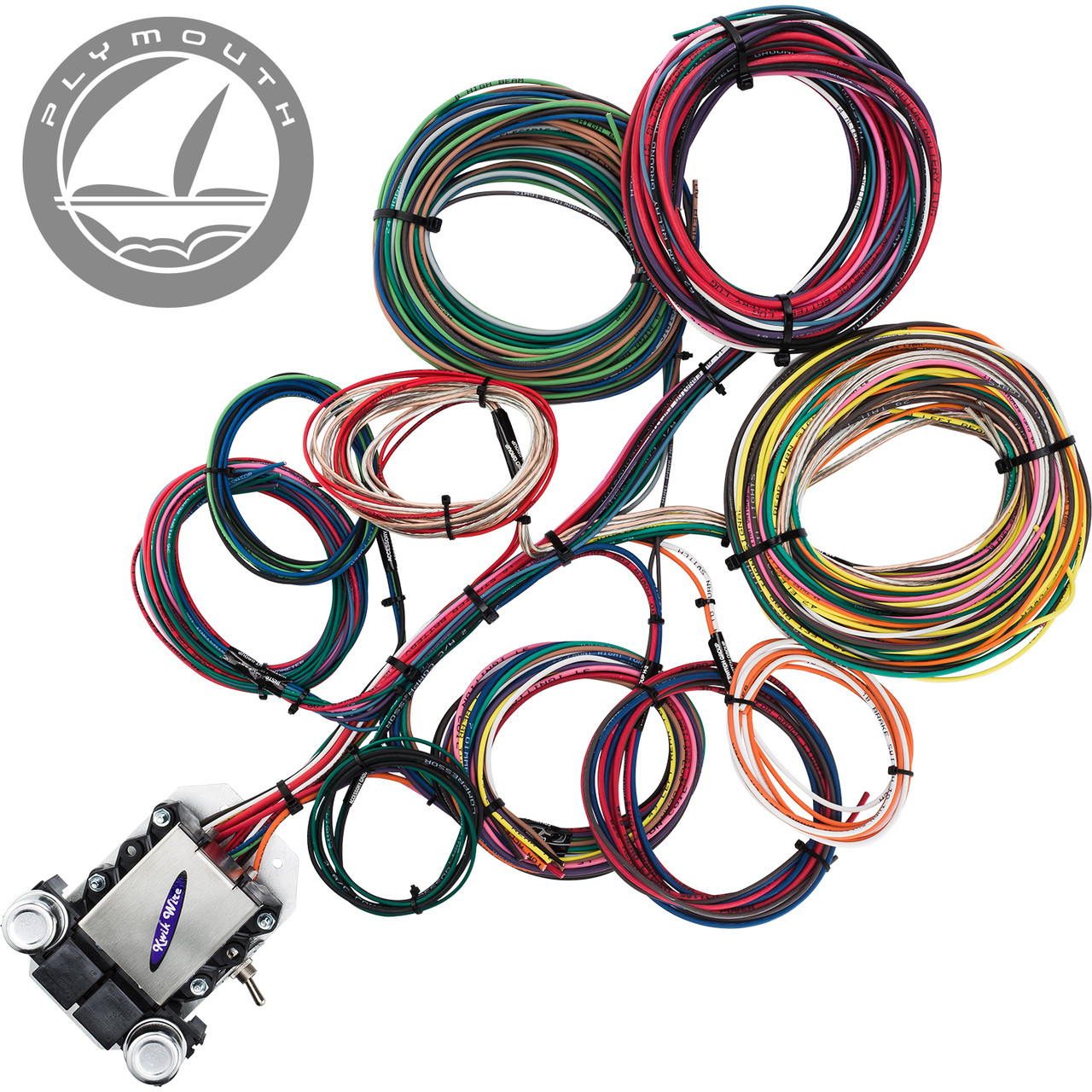 14 circuit plymouth restoration wiring harness streetrodelectrics