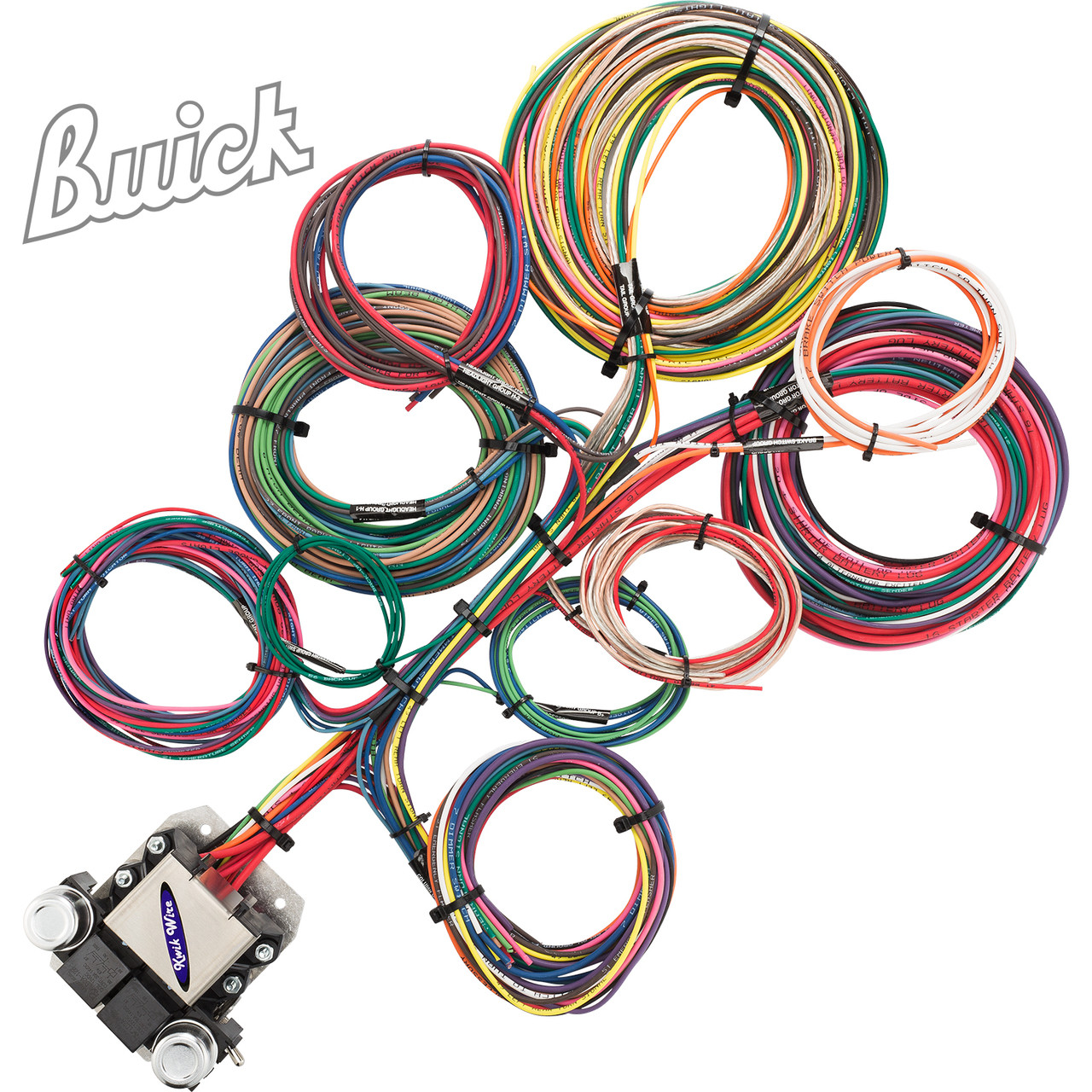 Vendor Street Rod Wiring Harness Diagrams Chevy Diagram 8 Circuit Kwik Wire Ford 2 3 Universal