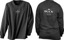Buck Long Sleeve Black T-Shirt Large