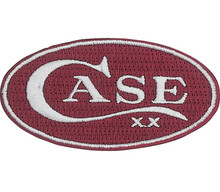 Case XX Logo Oval Patch Red & White